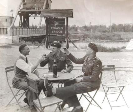 John Howard, Georges Gondreé and David Wood reunite at Pegasus Bridge
